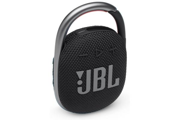 Large image of JBL Clip 4 Black Portable Bluetooth Speaker - JBLCLIP4BLKAM
