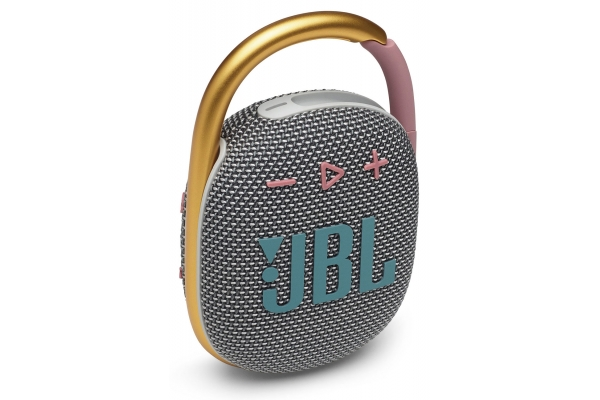 Large image of JBL Clip 4 Grey Portable Bluetooth Speaker - JBLCLIP4GRYAM
