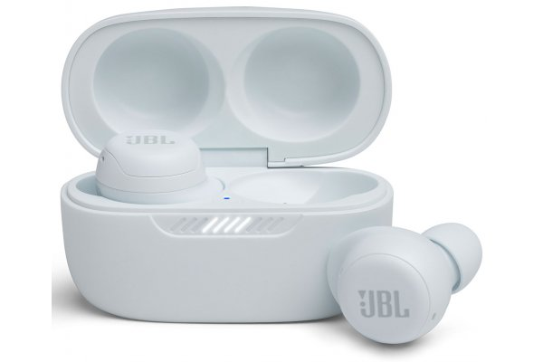 Large image of JBL Live Free NC+ TWS White True Wireless In-Ear Headphones - JBLLIVEFRNCPTWSWAM