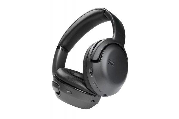 Large image of JBL Tour One Black Wireless Noise Cancelling Over-Ear Headphones - JBLTOURONEBLKAM