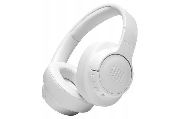 Large image of JBL TUNE 760NC White Wireless Over-Ear Noise Canceling Headphones - JBLT760NCWHTAM