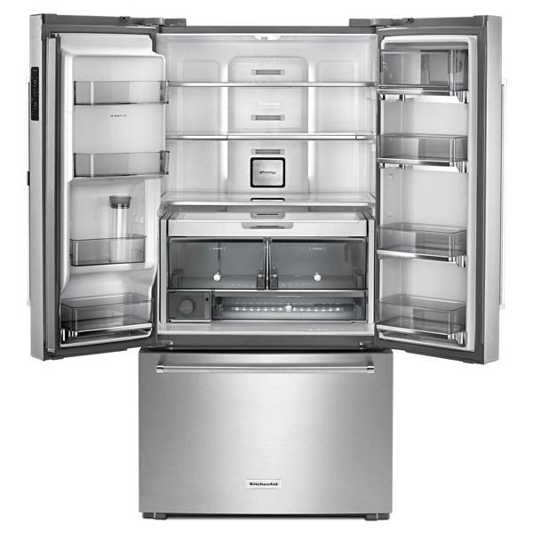 Kitchenaid Stainless Counter Refrigerator Krfc604fss