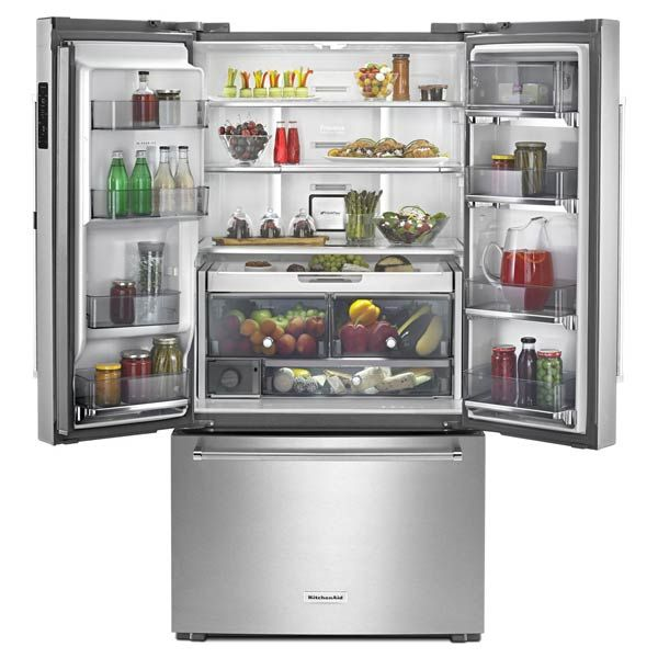 KitchenAid Stainless Steel Counter-Depth French Door Refrigerator