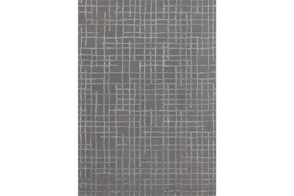 """Large image of Kalora Atlas 7'10"""" X 10'6"""" Grey Grid Rug - 7177C-240320"""