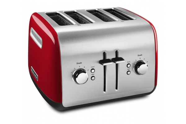 Large image of KitchenAid Empire Red 4-Slice Toaster - KMT4115ER