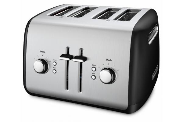 Large image of KitchenAid Onyx Black 4 Slice Toaster - KMT4115OB