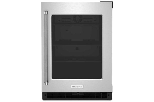 """Large image of KitchenAid 24"""" Stainless Frame Right-Hinge Undercounter Refrigerator - KURR214KSB"""