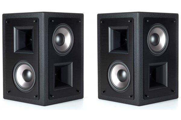 "Large image of Klipsch 5.25"" THX-5000-SUR Black Dual Two-Way THX Ultra2 Certified Surround Loudspeakers (Pair) - 1068687"