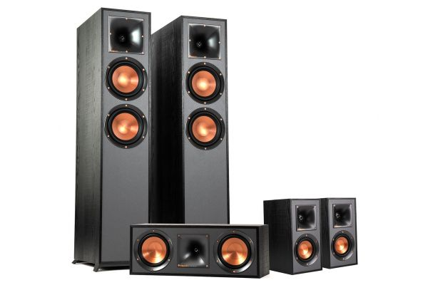 Large image of Klipsch Reference Dolby Atmos 5 Piece Home Theater Speaker Package - KLIPSCHATMOS52