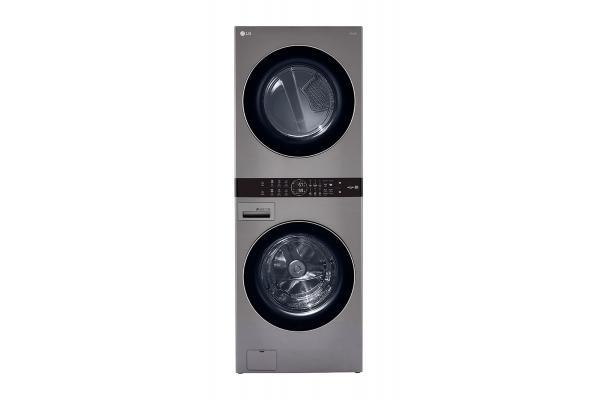 "Large image of LG 27"" Graphite Steel WashTower w/ Center Control Single Unit Front Load 4.5 Cu. Ft. Washer & 7.4 Cu. Ft. Electric Dryer Combo - WKE100HVA"