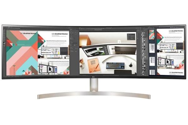"Large image of LG 49"" White UltraWide Dual QHD IPS Curved LED Monitor - 49WL95C-WE"
