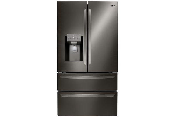 Large image of LG 28 Cu. Ft. Black Stainless Steel Smart Wi-Fi Enabled 4-Door French Door Refrigerator - LMXS28626D
