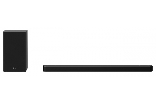 Large image of LG Black 3.1.2 Channel Audio Sound Bar With Dolby Atmos And Works With Alexa And Google Assistant - SP8YA