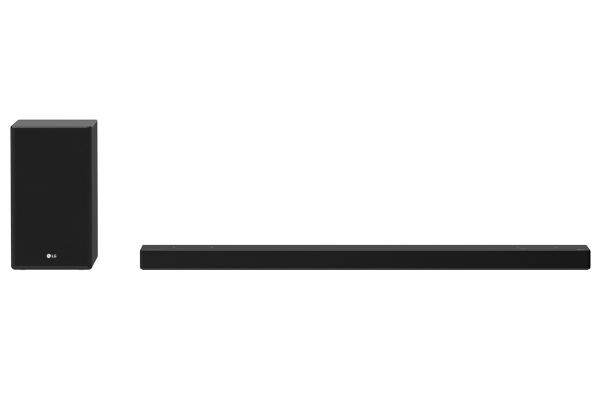 Large image of LG Black 5.1.2 Channel Audio Sound Bar With Dolby Atmos And Works With Alexa And Google Assistant - SP9YA