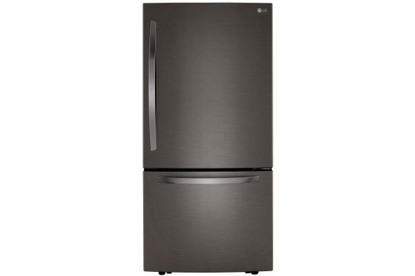 Large image of LG 26 Cu. Ft. PrintProof Black Stainless Steel Bottom Freezer Refrigerator - LRDCS2603D
