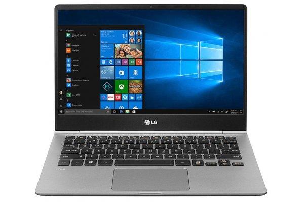"Large image of LG Gram 13.3"" Dark Silver Ultra-Lightweight Touchscreen Laptop Intel i5-8265U 8GB RAM 256GB SSD, Intel UHD Graphics 620 - 13Z990-A.AAS6U1"