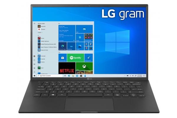 "Large image of LG Gram 14"" Black Ultra-Slim Laptop Intel Evo i7-1165G7 16GB RAM 512GB SSD, Intel Iris Xe Graphics - 14Z90PKAAB8U1"