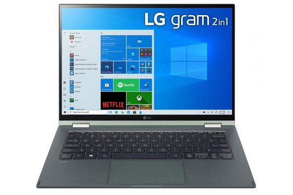 "Large image of LG Gram 14"" Green Ultra-Slim Laptop Intel Evo i7-1165G7 16GB RAM 1TB SSD, Intel Iris Xe Graphics - 14T90PKAAG9U1"