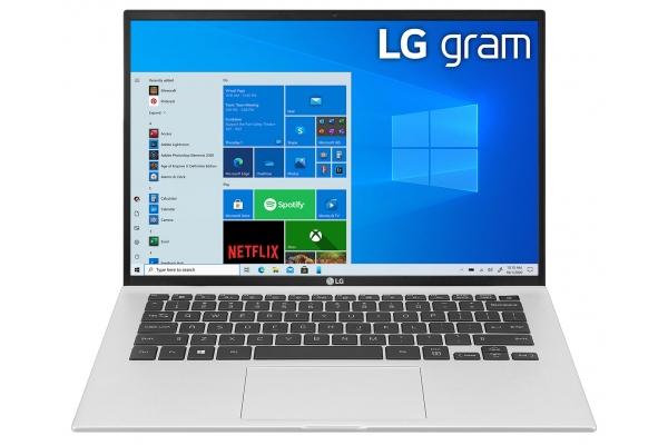 "Large image of LG Gram 14"" Silver Ultra-Slim Laptop Intel Evo i7-1165G7 16GB RAM 512GB SSD, Intel Iris Xe Graphics - 14Z90PKAAS8U1"