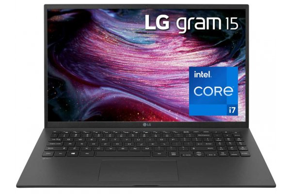 "Large image of LG Gram 15"" Black Ultra-Lightweight And Slim Laptop Intel i7-1165G7 32GB RAM 1TB SSD, Intel Iris Xe Graphics - 15Z90P-P.ADB9U1"