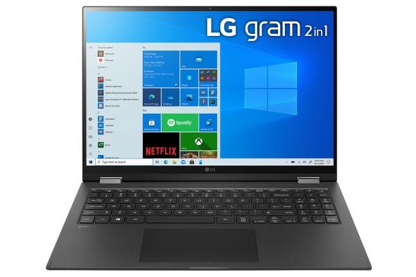 "Large image of LG Gram 16"" Black Ultra-Slim Laptop Intel Evo i7-1165G7 16GB RAM 2TB SSD, Intel Iris Xe Graphics - 16T90PKAAB9U1"
