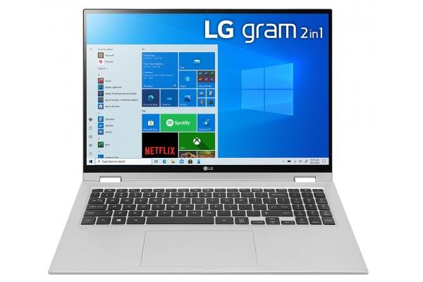 "Large image of LG Gram 16"" Silver Ultra-Slim Laptop Intel Evo i7-1165G7 16GB RAM 2TB SSD, Intel Iris Xe Graphics - 16T90PKAAS9U1"