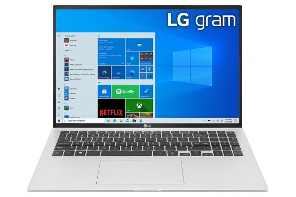 "Large image of LG Gram 16"" Silver Ultra-Slim Laptop Intel i7-1165G7 16GB RAM 1TB SSD, Intel Iris Xe Graphics - 16Z90PKAAS8U1"