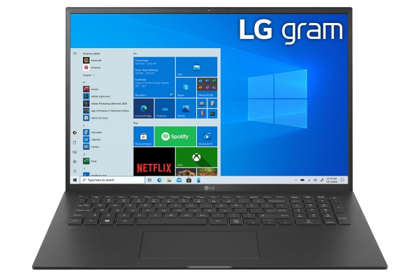 "Large image of LG Gram 17"" Black Ultra-Slim Laptop Intel Evo i7-1165G7 16GB RAM 1TB SSD, Intel Iris Xe Graphics - 17Z90P-K.AAB8U1"
