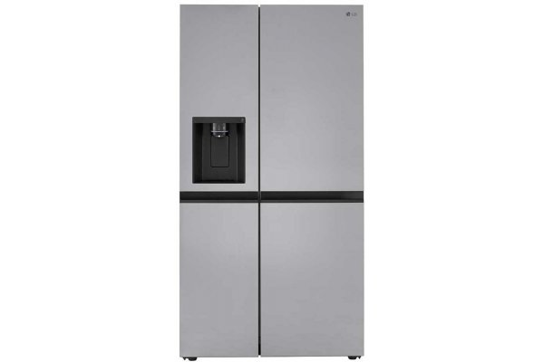 Large image of LG 27 Cu. Ft. Stainless Steel Side-By-Side Refrigerator With Smooth Touch Ice Dispenser - LRSXS2706V