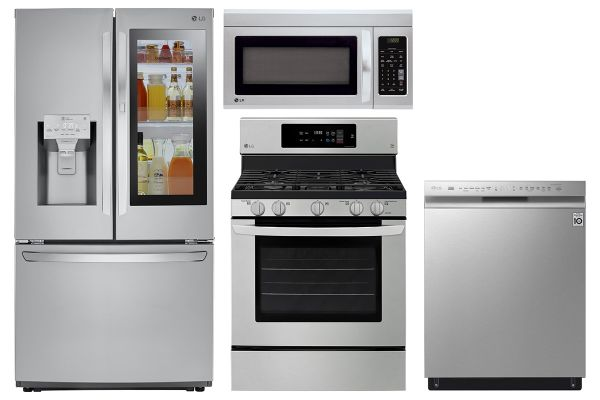 LG 22 Cu. Ft. PrintProof Stainless Steel Counter-Depth Refrigerator With Gas Range Package - LGAPPACK13