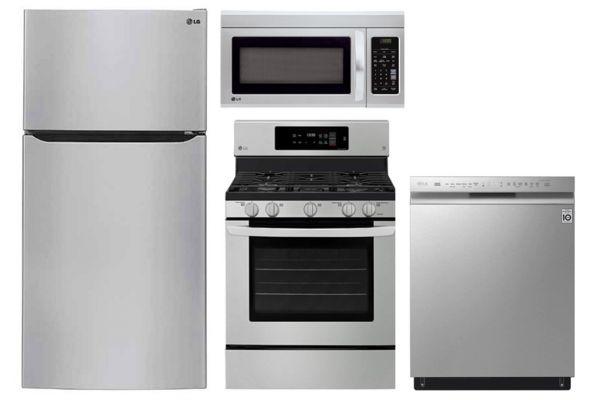LG 24 Cu. Ft. Stainless Steel Top Freezer Refrigerator With Gas Range Package - LGAPPACK21