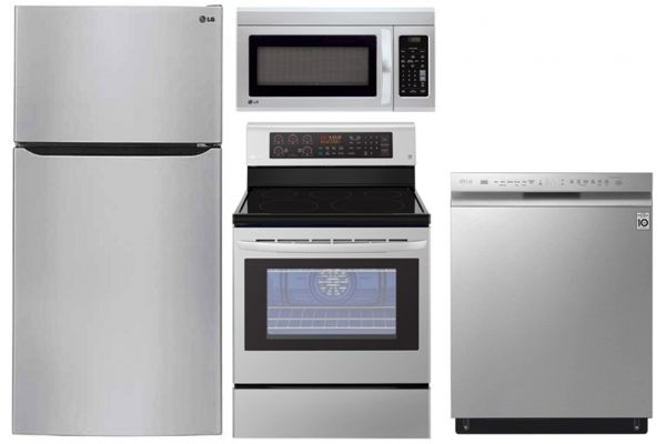 LG 24 Cu. Ft. Stainless Steel Top Freezer Refrigerator With Electric Range Package - LGAPPACK22