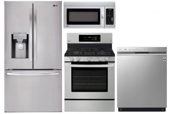 LG 26.2 Cu. Ft. PrintProof Stainless Steel French Door Refrigerator With Gas Range Package - LGAPPACK23