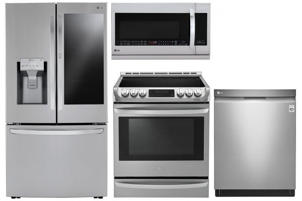 Large image of LG 30 Cu. Ft. Refrigerator With Slide-In Electric Range Package - LGAPPACK25
