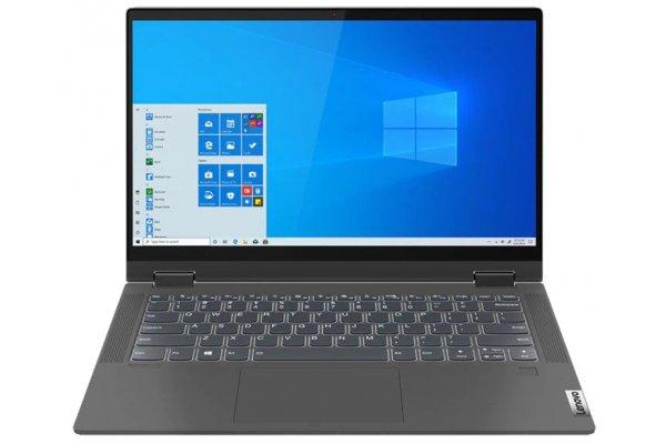"Large image of Lenovo Flex 5i 14"" Graphite Grey 2-In-1 Laptop Intel i7-1165G7 12GB RAM 512GB SSD, Intel Iris Xe Graphics - 82HS000WUS"