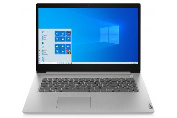 "Large image of Lenovo IdeaPad 3 17ITL06 17.3"" Arctic Gray Notebook Intel 11th Gen i5-1135G7 8GB RAM 256GB SSD, Iris Xe Graphics - 82H900E0US"