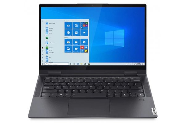 "Large image of Lenovo Yoga 7i 14"" Slate Grey 2-In-1 Laptop Intel i5-1135G7 8GB RAM 512GB SSD, Intel Iris Xe Graphics - 82BH000AUS"