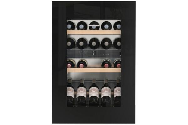 "Large image of Liebherr 22"" Black Frame Built-In Dual Zone Wine Cabinet - HWGB-3300"