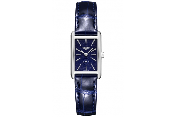 Large image of Longines Quartz DolceVita Blue Strap Watch, Blue Dial, 32mm - L52554932