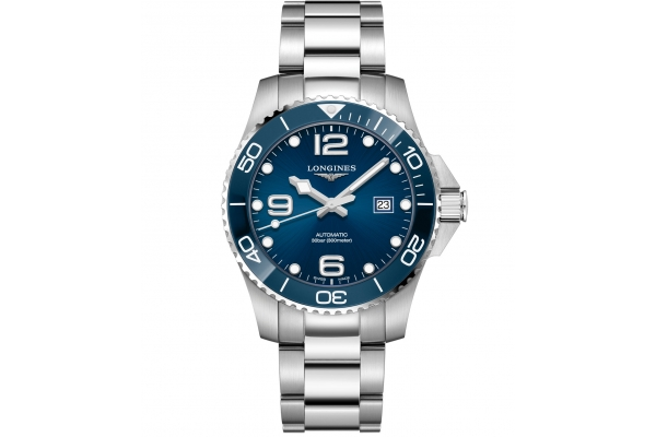 Large image of Longines HydroConquest Stainless Steel And Ceramic Case With Blue Dial 43mm Watch - L37824966