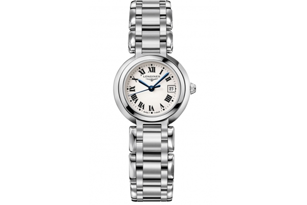 Large image of Longines PrimaLuna Stainless Steel Bracelet, Silver Dial Watch, 26.50mm - L81104716