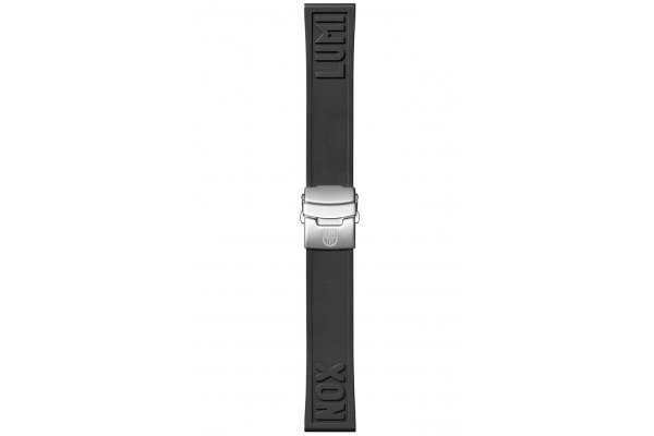 Large image of Luminox 24mm Black Rubber Cut-To-Fit Luminox Branded Watch Strap - FPX240620QK
