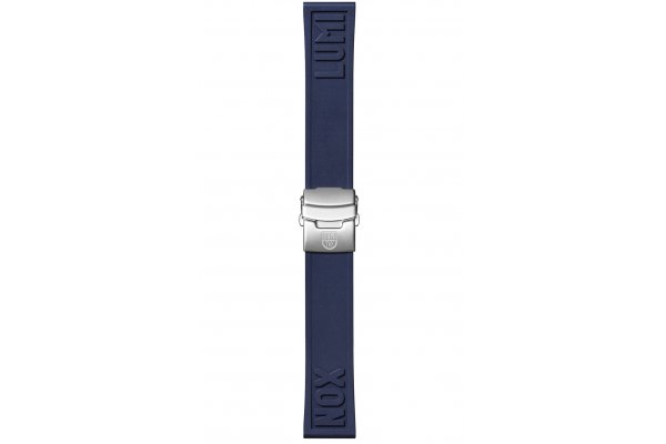 Large image of Luminox 24mm Navy Blue Rubber Cut-To-Fit Luminox Branded Watch Strap - FPX240640QK