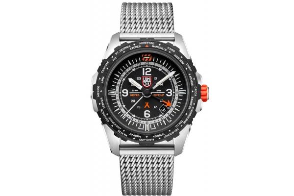 Large image of Luminox Bear Grylls Survival AIR Series 3762 Stainless Steel Mesh Watch, 45mm - XB3762