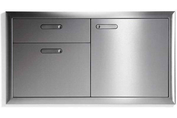 """Large image of Lynx 42"""" Stainless Steel Classic Access Door & Double Drawer Combination - LSA42"""