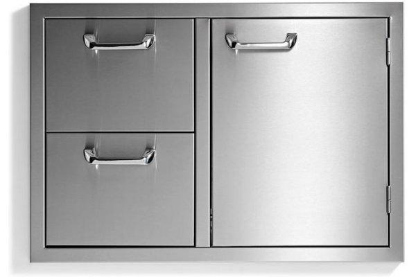 "Large image of Lynx 30"" Stainless Steel Sedona Door Drawer Combination - LSA530"