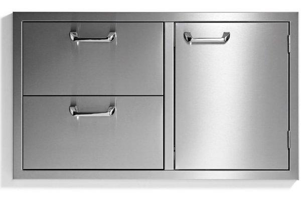 "Large image of Lynx 36"" Stainless Steel Sedona Door Drawer Combination - LSA636"