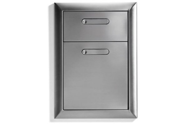 """Large image of Lynx 16"""" Stainless Steel Ventana Double Drawers - LDW16-4"""