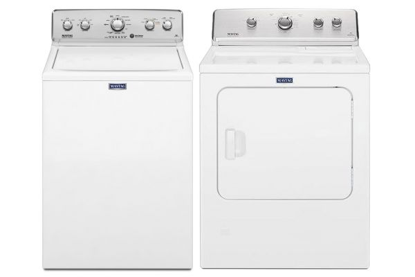 Maytag White Top Loading Washer with Electric Dryer - MAYTLAUNDRYPACK6
