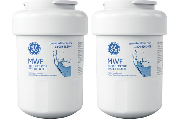 Large image of GE Replacement Refrigerator Water And Ice Filter - 2 Pack - MWFX2